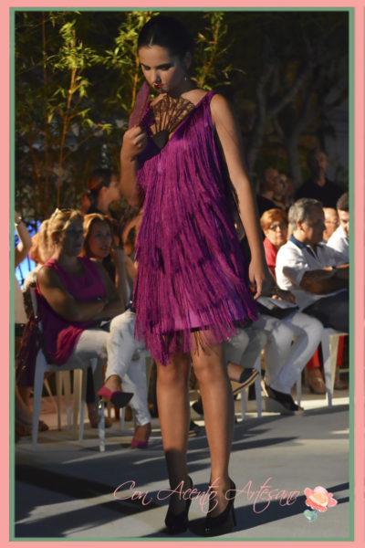 Vestido flecado de cóctel estilo años 20 de Melisa Lozano