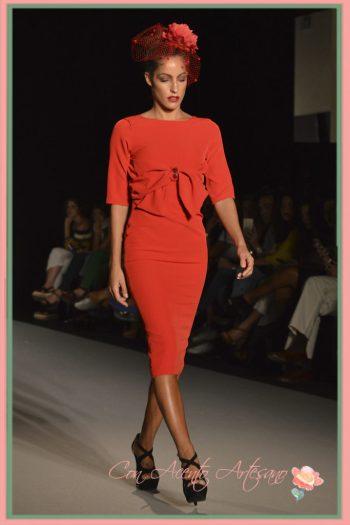 Vestido rojo entallado de LaPaca Costura