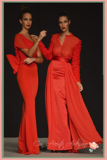 Vestido de fiesta en rojo de LaPaca Costura