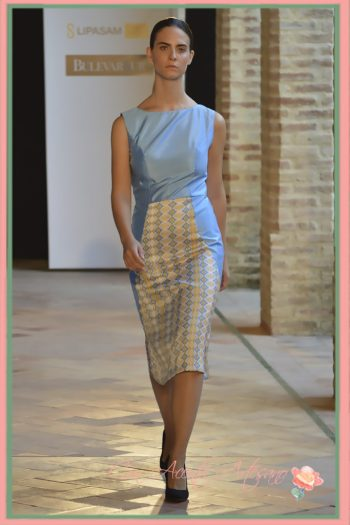 Vestido ajustado y hasta las rodillas de Alegan en Andalucía de Moda 2016