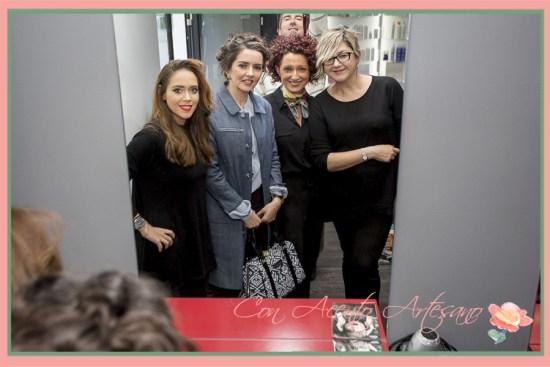 En la imagen todo el equipo de Verónica Carrión y el fotógrafo Rafael Arbide junto a mí.