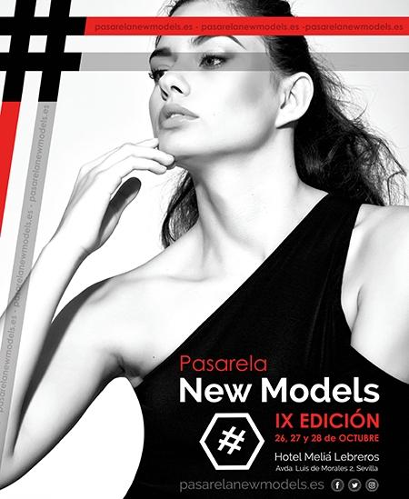 Cartel Pasarela New Models IX edición - septiembre 2017
