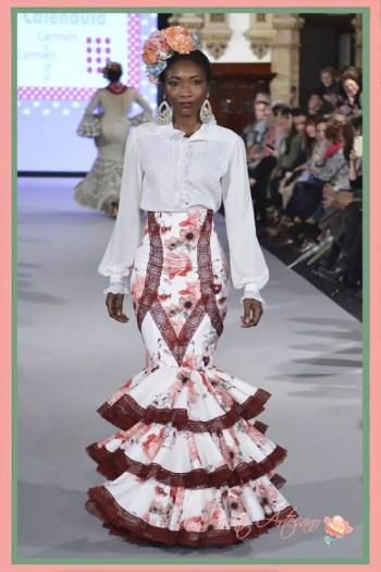 Traje de flamenca de dos piezas con cintura alta de Carmen Acedo