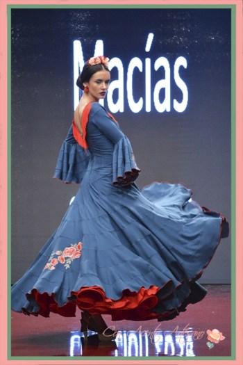 Canastero de Manuela Macías en Pasarela Huelva Flamenca 2018