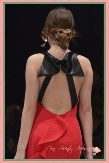 Espalda de vestido de noche de Eva Valderrama