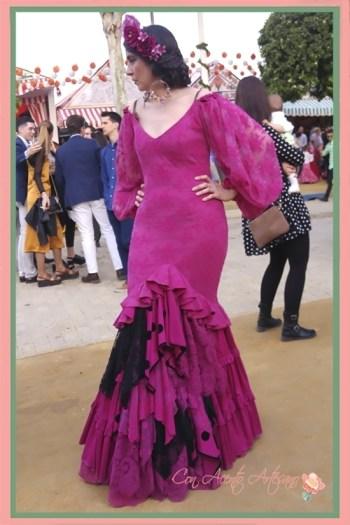 Traje de flamenca buganvilla de Aurora Gaviño