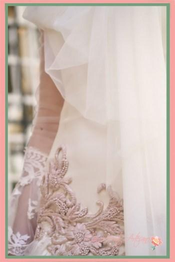 Detalle del vestido de novia de Aurora Gaviño en la presentación de SIQ2018