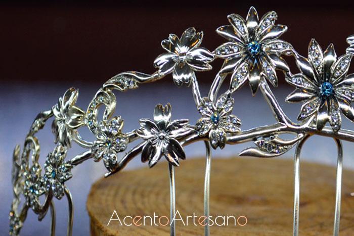 Detalle de una tiara de novia de José Álvarez Joyeros
