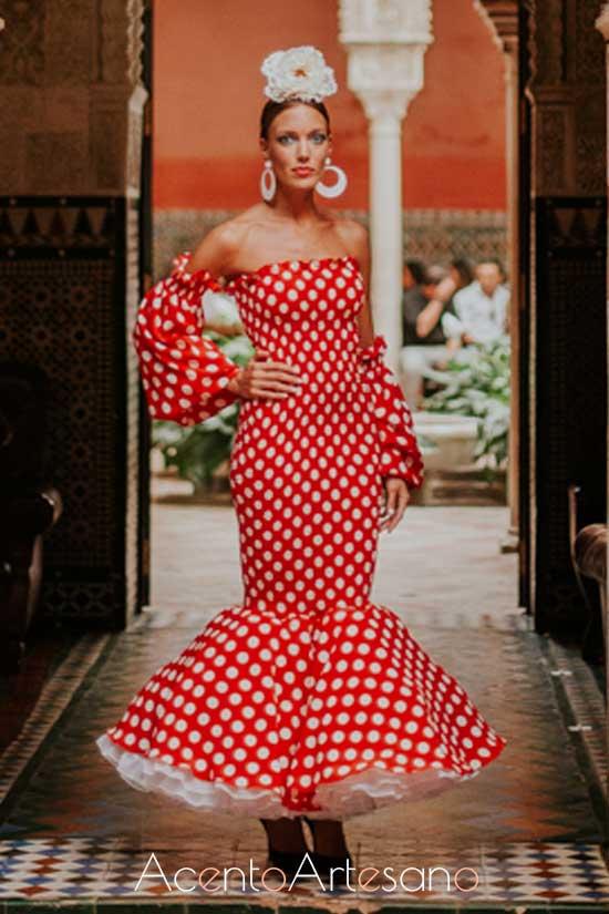 Traje de flamenca de Javier León