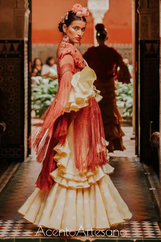 Traje de flamenca de Luisa Pérez