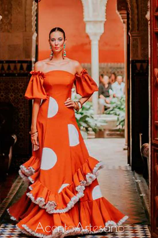 Traje de flamenca de Manuela Martínez