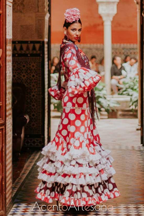 Traje de flamenca de Rocío Peralta