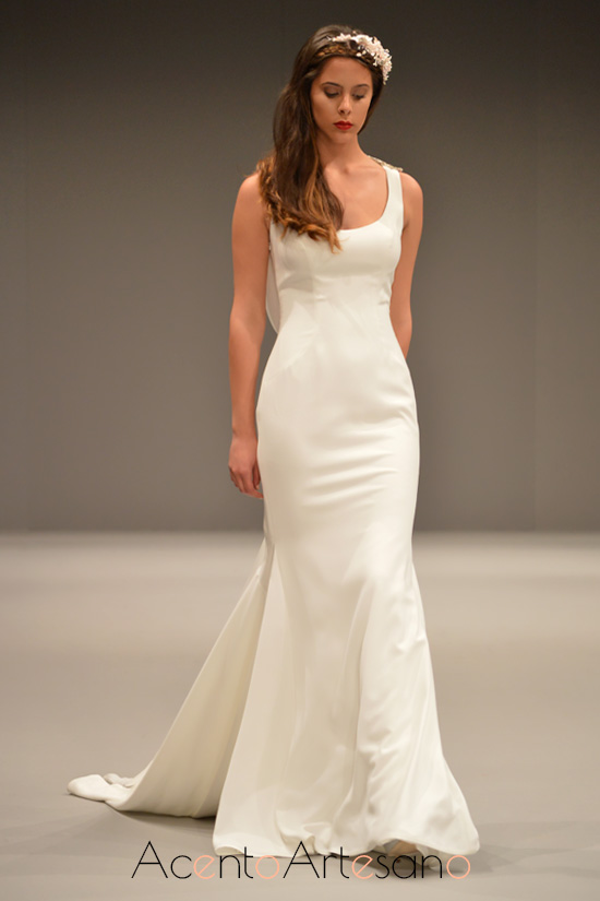 Vestido de novia silueta sirena de Higar Novias
