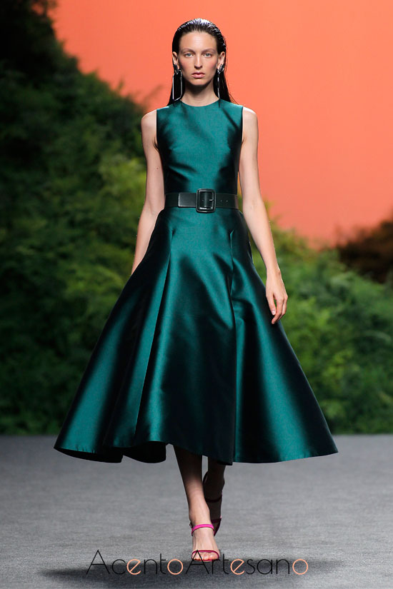 Vestido ladylike de The 2nd skin co. en la MBFWMadrid