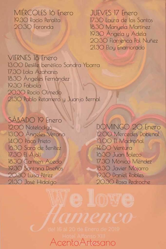 Programa We Love Flamenco 2019