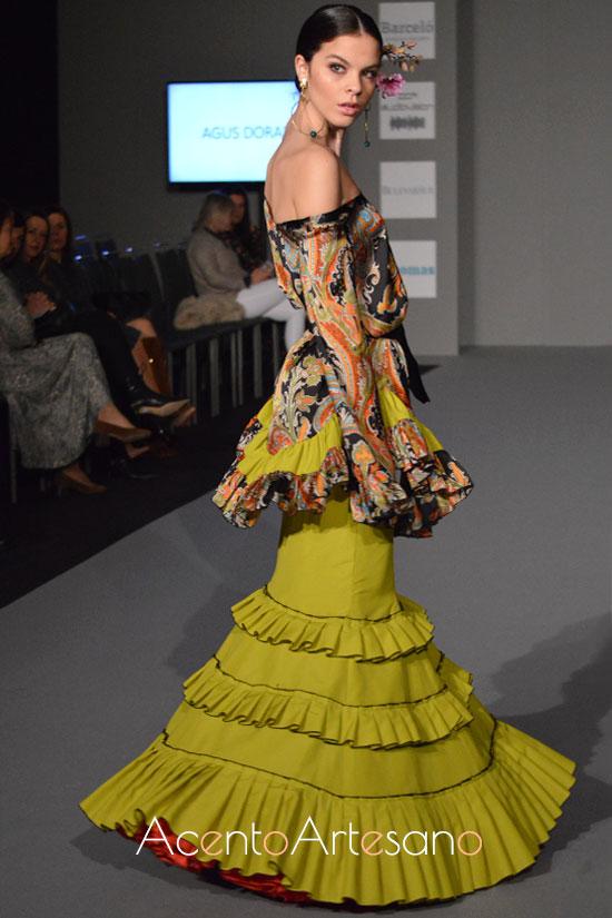 Traje de flamenca de Agus Dorado en Olé Olá SIMOF