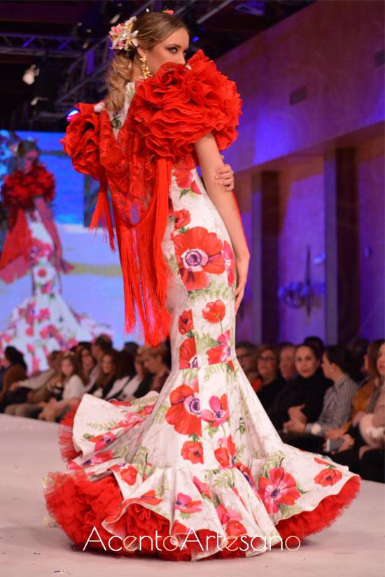 Traje de flamenca de Alonso Cózar en Pasarela Doñana D´Flamenca