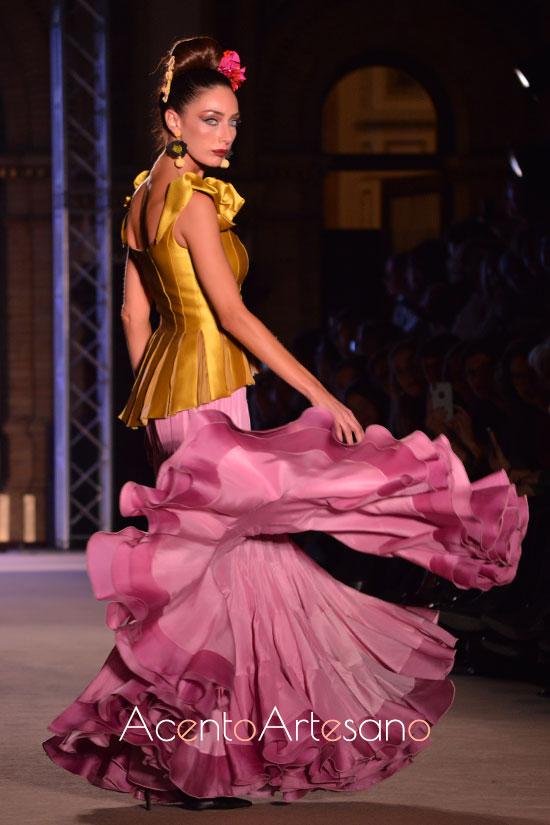 Dos piezas de corpiño y falda flamenca de Ángela y Adela