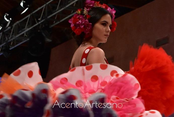 Traje de flamenca dos piezas de José Joaquín Gil García en el Noveles de Pasarela Donana D'Flamenca