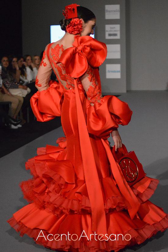 Traje de flamenca de Melisa Lozano en Olé Olá SIMOF