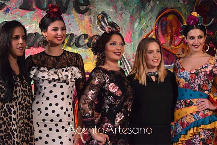 El Madroñal en el photocall de We Love Flamenco tras el carrusel de su colección Herencia para este 2019