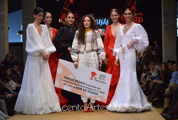 Estefanía Padilla gana Noveles Pasarela Flamenca Jerez Tío Pepe 2019