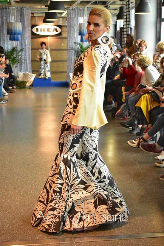 Traje de flamenca de Marta Rodríguez en Certamen Moda Flamenca IKIEA Sevilla