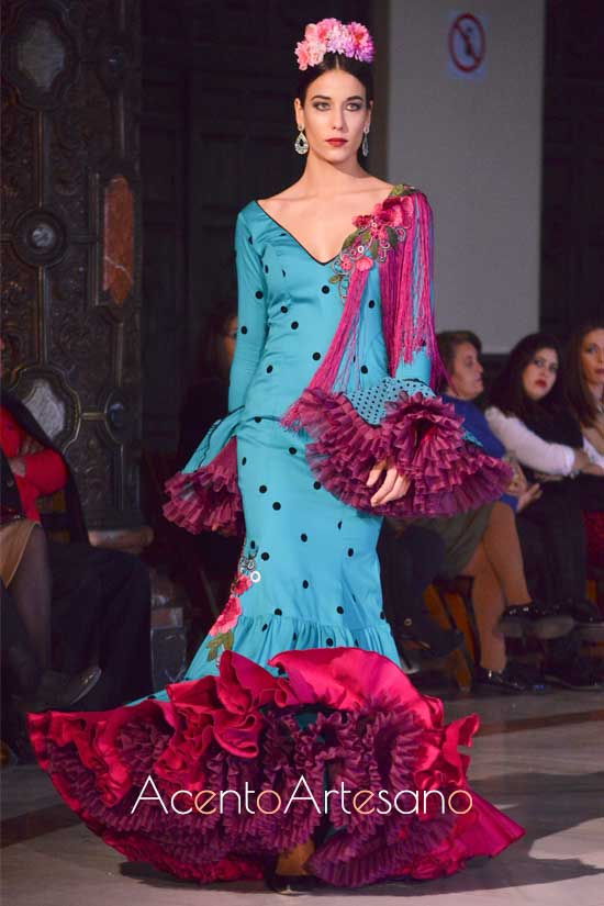 Traje de flamenca de Ana Ferreiro ganadora de Certamen Noveles We Love Flamenco 2019