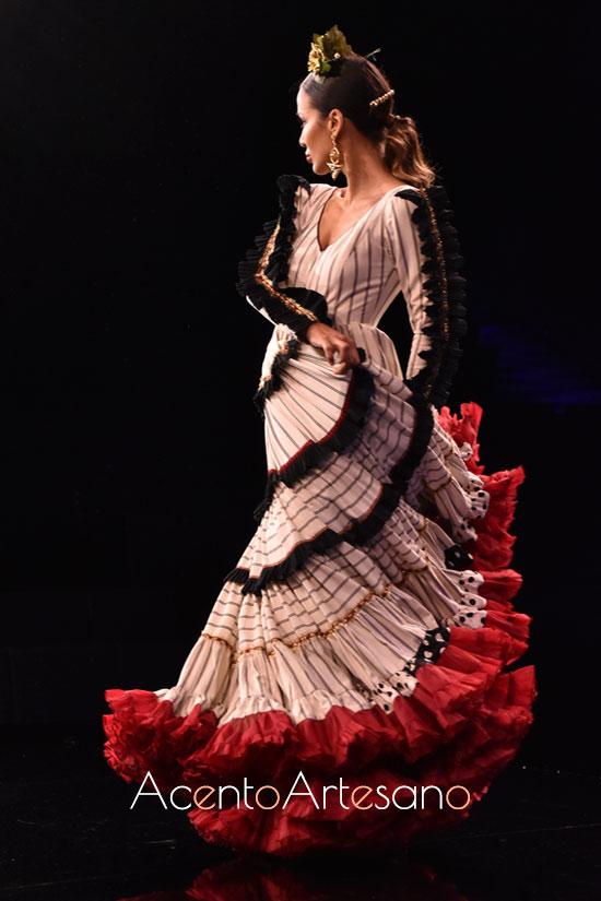 Traje de flamenca setentero de María AmadorR