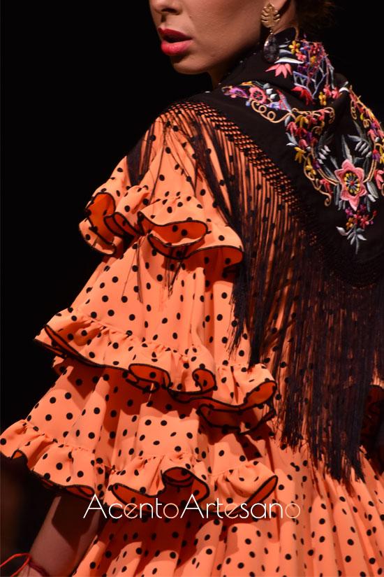 Traje de flamenca de Rocío Domínguez