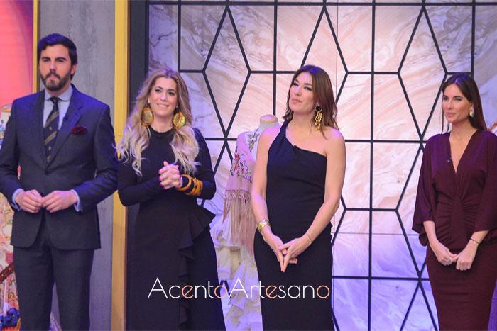 Jueces del programa Aguja Flamenca en Canal Sur Tv: Mario Niebla del Toro, Juana Martín, Raquel Revuelta y Lourdes Montes.