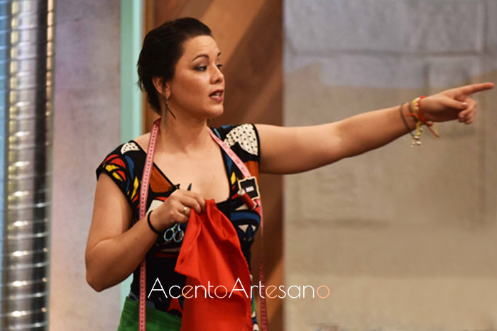 Rosa, capitana equipo verde en el programa 5 de Aguja Flamenca