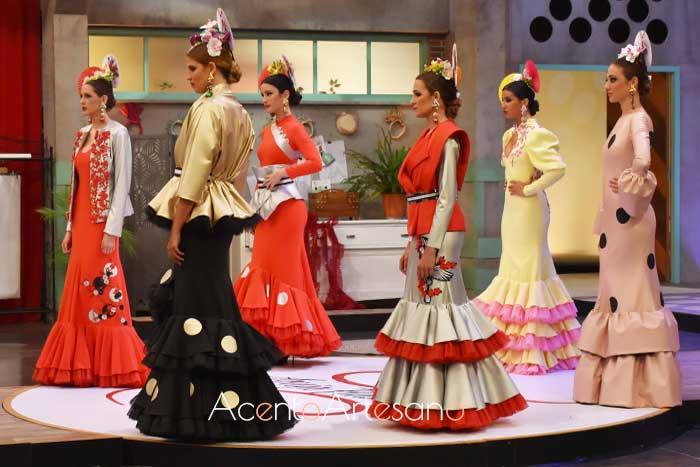 Trajes de flamenca de la colección Sakura de Patricia Bazarot en Aguja Flamenca