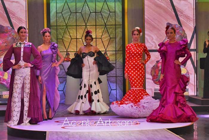 Los trajes de flamenca y propuestas aflamencadas de los 5 finalistas de Aguja Flamenca