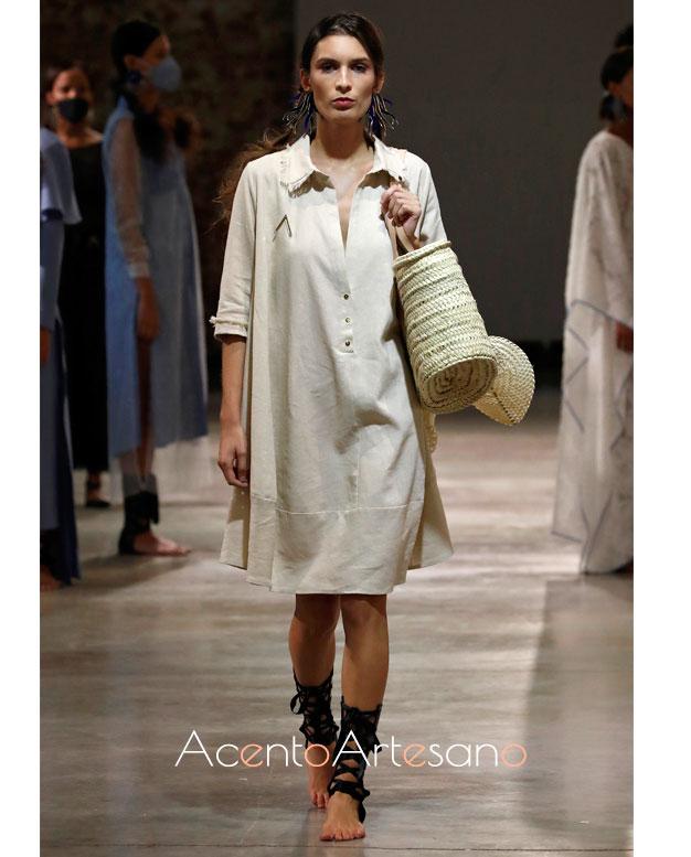 Vestido camisero de Pilar Dalbat