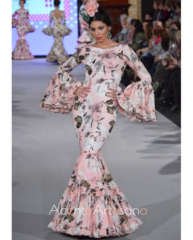 Traje de flamenca de Carmen Acedo en WLF