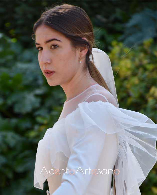 Detalle vestido de novia de Nicolás Montenegro