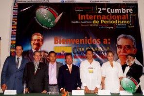 La mesa del presídium durante la inauguración de la #CumbreCONAPE2015