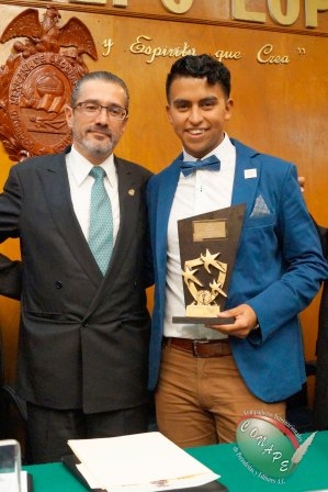 El Procurador de Justicia, Lic. Alejandro Jaime Gómez y el Mtro. Christian González