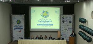 Mesa de abertura do III Fórum de Saúde Digital N/NE. Foto: Aglaupy Guaraná/ NUTES Imagem