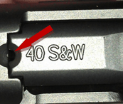 Smith & Wesson M&P .40 chamber indicator