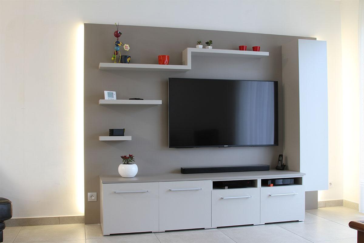 meuble tv sur mesure a chatillon sur