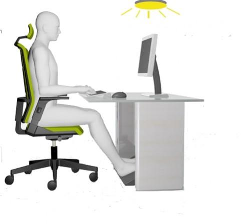 assis devant votre poste de travail