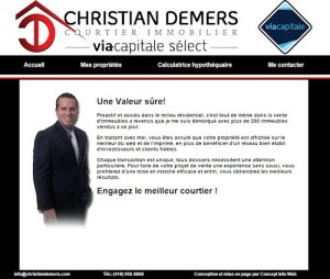 Christian Demers, courtier immobilier