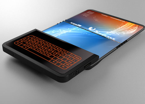 Foldable screen phone