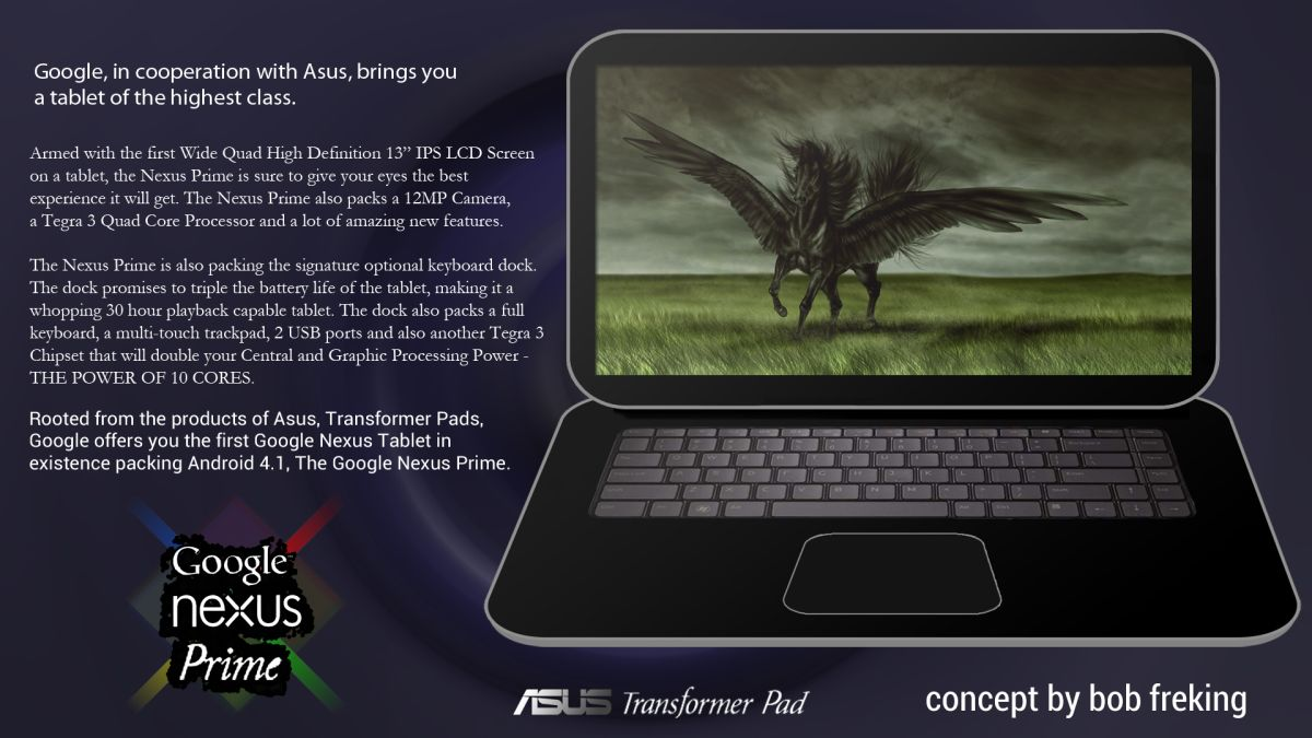 Google Nexus Prime Tablet Made by ASUS Created As Concept