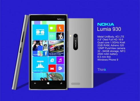 Nokia Lumia 930 Render, Created by Victor Cao; Specs Included!