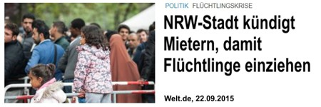 Merkel macht Deutsche zu Flüchtlingen