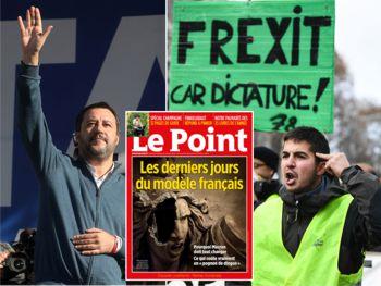 Salvini unterstützt die Frexit-Forderungen der Gelbwesten-Revolution
