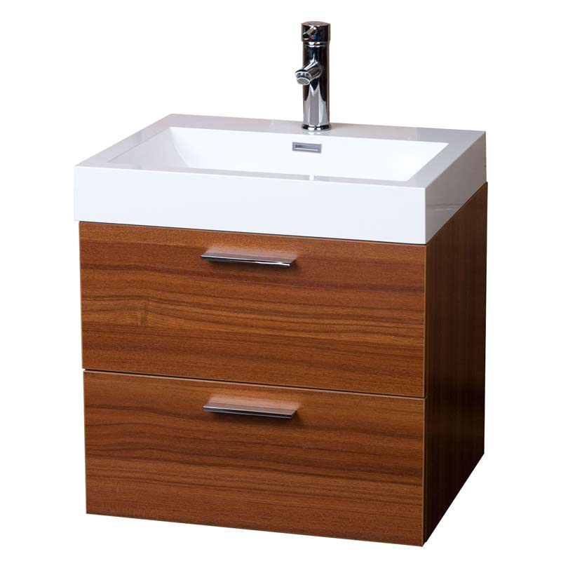 modern floating bathroom vanity teak two drawers free shipping tn